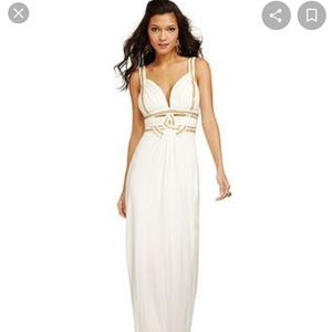 GUESS Sleeveless Beaded Cutout Gown